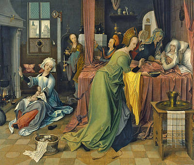 Painting - The Birth Of The Virgin by Jan de Beer