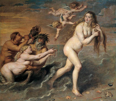 Goddess Of Beauty Painting - The Birth Of Venus by Cornelis de Vos