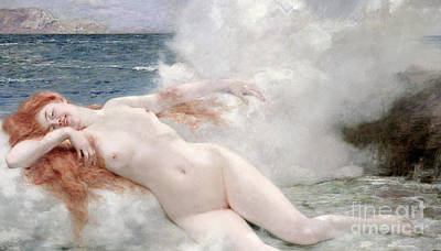 The Birth Of Venus Art Print by Henri Gervex