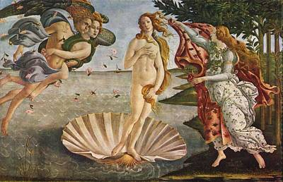 Wells Beach Painting - The Birth Of Venus by Sandro Botticelli