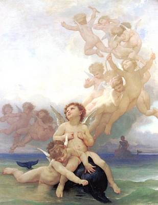 Digital Art - The Birth Of Venus  by William Bouguereau
