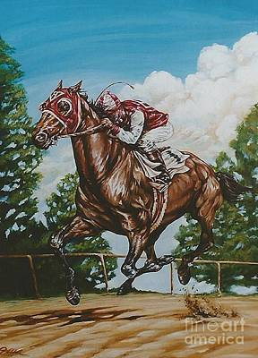 Seabiscuit Painting - The Biscuit by Jo-Ellen Linkow
