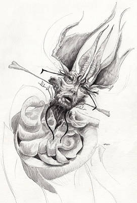 Surrealism Drawing - The Bishop by Ethan Harris
