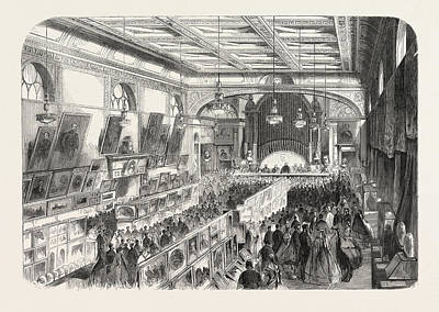 Religious Art Drawing - The Bishop Of Oxford Opening The Industrial And Fine-art by English School