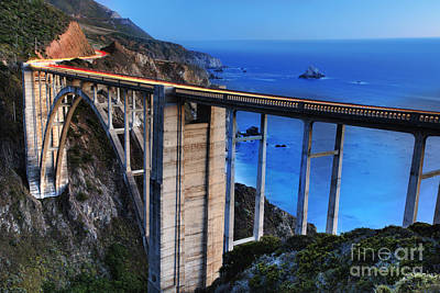Under The Ocean Photograph - The Bixby Bridge  by Marco Crupi