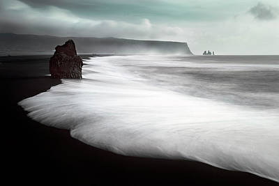 Stones Photograph - The Black Beach by Liloni Luca