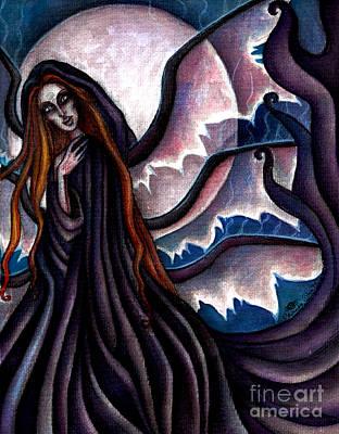 The Black Belladonna Print by Coriander  Shea