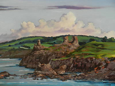 Painting - The Black Castle In Wicklow by Robert Teeling