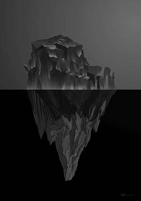 Digital Art - The Black Iceberg by Serge Averbukh