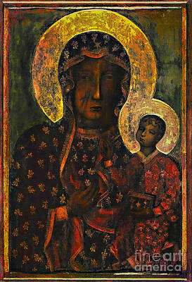 Virgin Mary Painting - The Black Madonna by Andrzej Szczerski