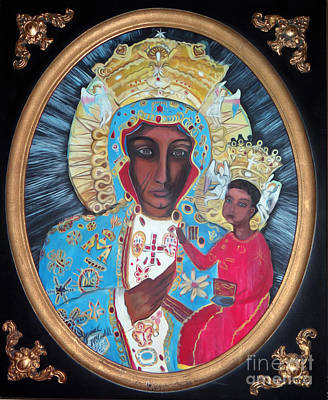 Painting - The Black Madonna by Ecinja Art Works