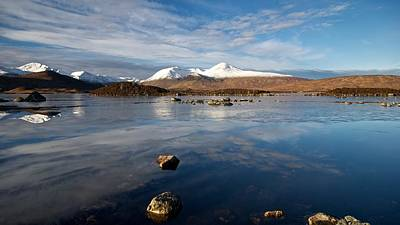 Art Print featuring the photograph The Black Mount by Stephen Taylor