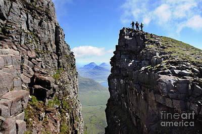 Torridon Wall Art - Photograph - The Black Notch On Beinn Alligin Torridon Scotland by Colin Woods