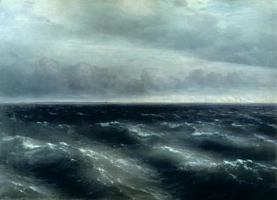 Stormy Sea Painting - The Black Sea by Ivan Konstantinovich Aivazovsky
