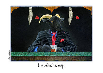 Kingpins Painting - The Black Sheep... by Will Bullas