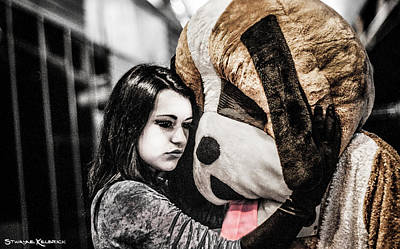 Photograph - The Black Widow And The Teddy Bear by Stwayne Keubrick
