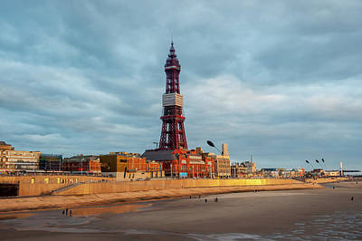 Walking In Tide Photograph - The Blackpool Tower  Blackpool by Dosfotos