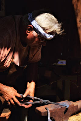 Photograph - The Blacksmith by Bob Wall