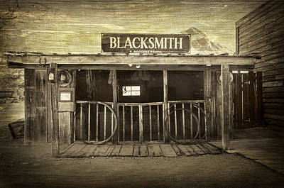 The Blacksmith Shop Art Print by Barbara Manis