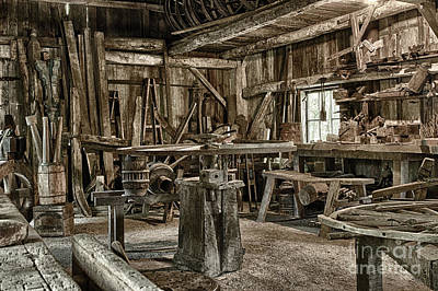 Photograph - The Blacksmith Shop by Jim Crawford