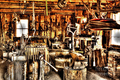 Photograph - The Blacksmith Shop by Steven Parker