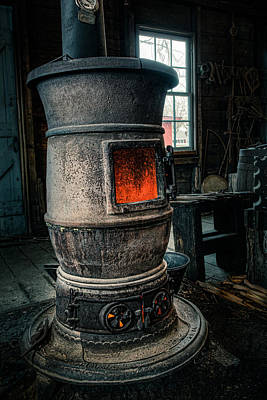 Photograph - The Blacksmiths Furnace - Industrial by Gary Heller