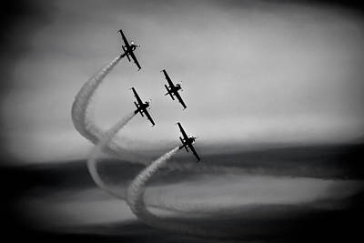 The Blades In Formation Sunderland Air Show 2014 Art Print by Scott Lyons