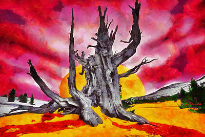 Rossidis Painting - The Bleeding Tree by George Rossidis