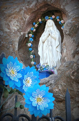 San Xavier Photograph - The Blessed Virgin At Mission San Xavier Del Bac by Karyn Robinson