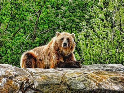 The Blessing Bear Art Print by Ray Van Gundy