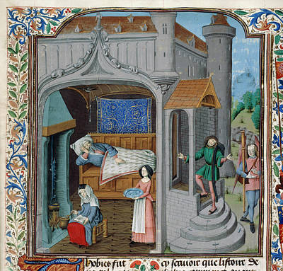 Bible Photograph - The Blinding And Cure Of Tobit by British Library