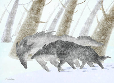 Snow Drifts Digital Art - The Blizzard by Dmitry Rezchikov