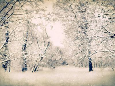 Snow Landscape Digital Art - The Blizzard by Jessica Jenney