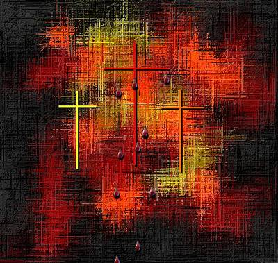 Father Of All Gods Digital Art - The Blood Of Jesus Abstract The Ultimate Sacrifice by L Brown