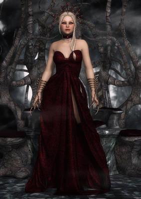 Digital Art - The Blood Queen by Rachel Dudley