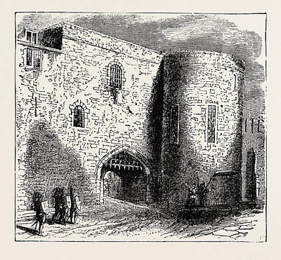 Tower Of London Drawing - The Bloody Tower In The Tower Of London The Place by English School
