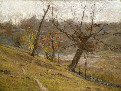 Field Grey Painting - The Bloom Of The Grape by Theodore Clement Steele