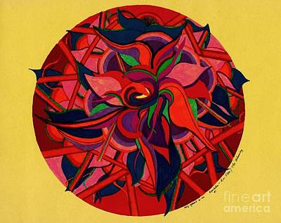Self Discovery Drawing - The Blooming by Suzi Gessert