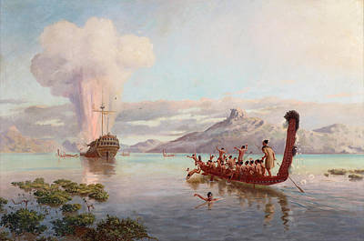Steele Painting - The Blowing Up Of The Boyd by Louis John Steele