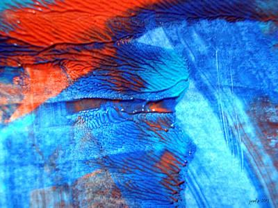 The Blue And Red Affair Acryl Knights Art Print by Sir Josef - Social Critic -  Maha Art
