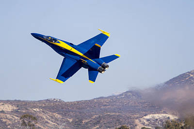 Photograph - The Blue Angels In Action 4 by Jim Moss