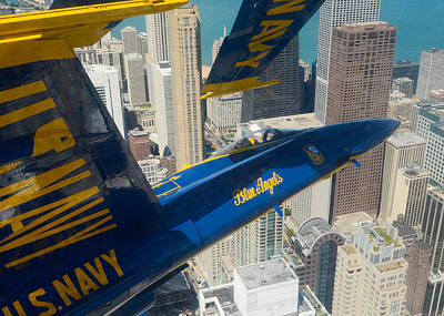 The Blue Angels Over Chicago Art Print