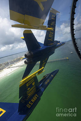 The Blue Angels Perform The Diamond 360 Art Print by Stocktrek Images