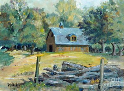 The Blue Barn Art Print
