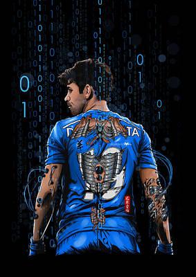 Soccer Digital Art - The Blue Beast by Akyanyme