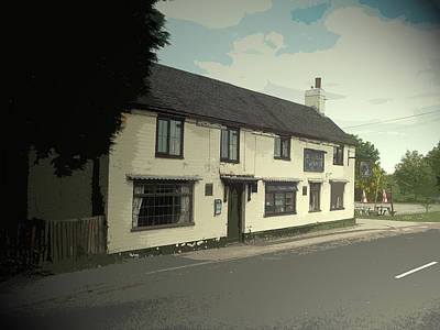 Found Art Drawing - The Blue Bell Inn, To Be Found On Adams Road To The South by Litz Collection