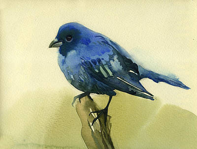 The Blue Birdie Art Print by Tatiana Zubareva