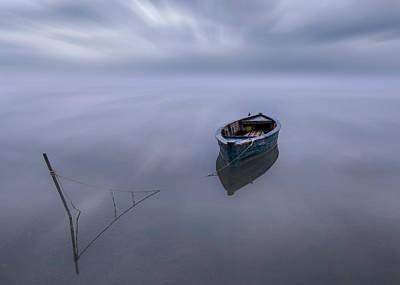 Spain Wall Art - Photograph - The Blue Boat by Joaquin Guerola