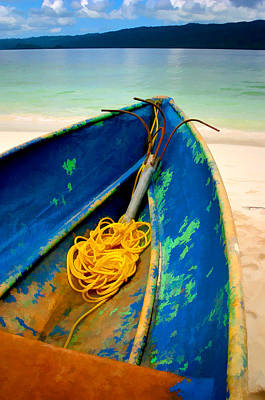 Photograph - The Blue Boat by Peter OReilly
