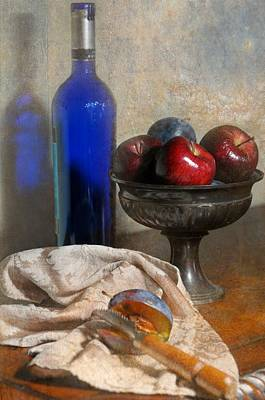 The Blue Bottle Art Print by Diana Angstadt